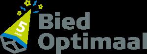 BiedOptimaal 5-jarig jubileum logo
